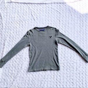 American Eagle Long Sleeve Shirt/ Grey/ Size XS